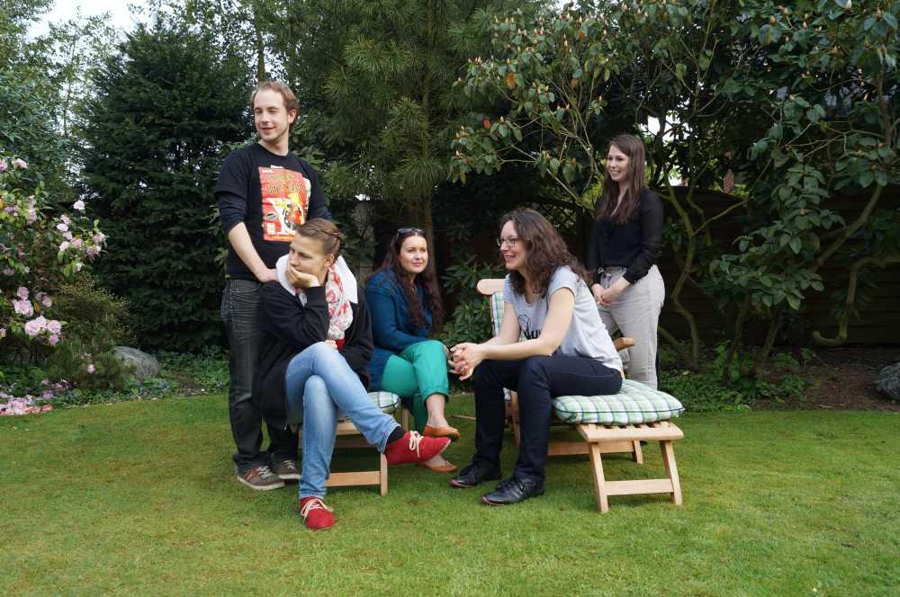Treffen junger Studenten – und junge Erwachsene