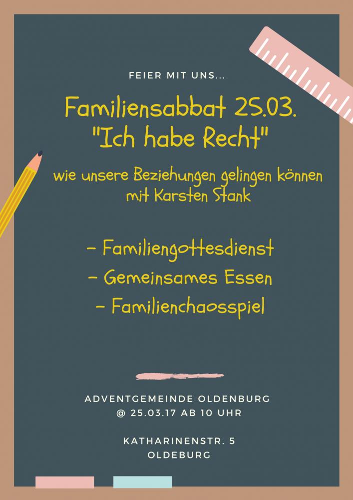 Familiensabbat mit Karsten Stank