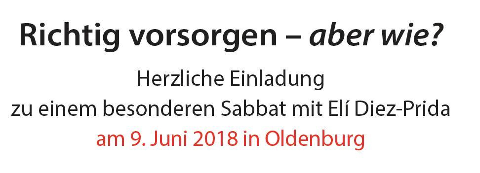 Vorschau auf einen besonderen Sabbat am 09.06.2018